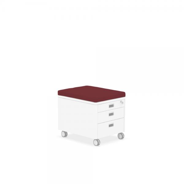 Pad für Rollcontainer rot