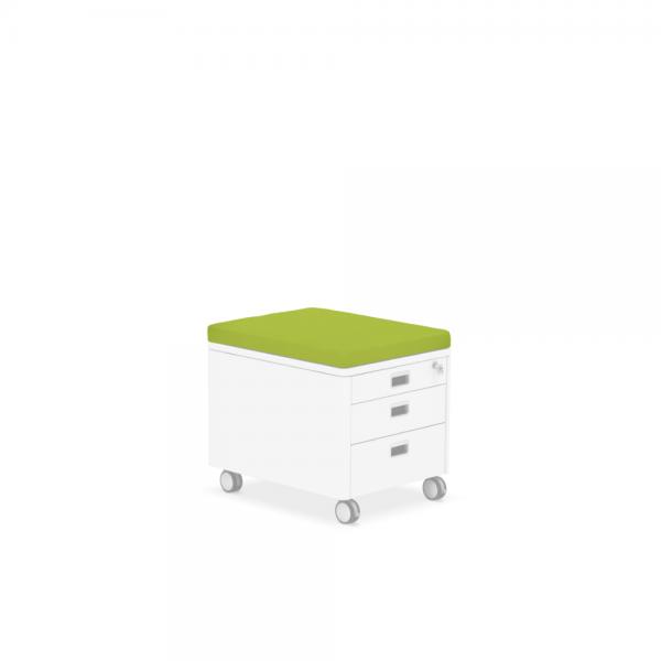 Pad für Rollcontainer grün