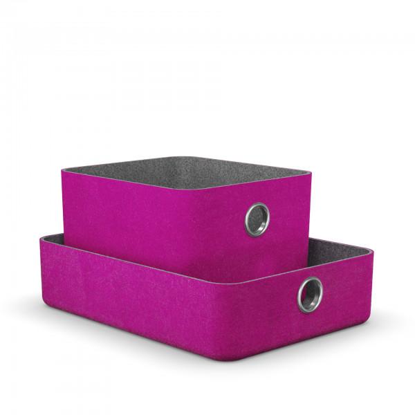 Moll Basket Aufbewahrungsbox pink