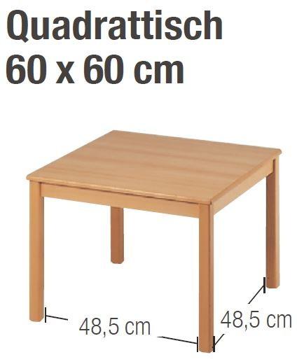 Tisch 60 x 60 cm