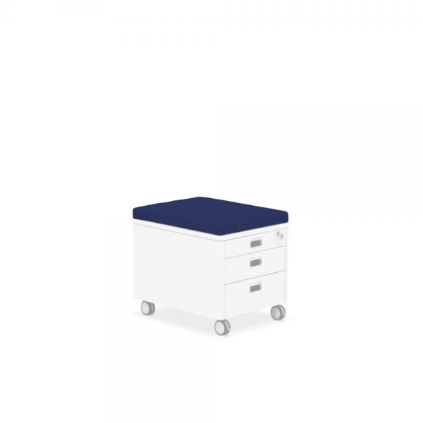 Pad für Rollcontainer blau