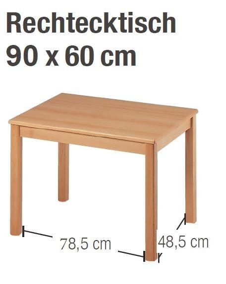 Tisch 90 x 60 cm