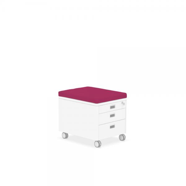 Pad für Rollcontainer pink
