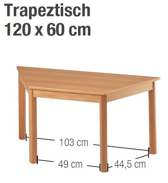 Tisch 120 x 60 cm Trapez